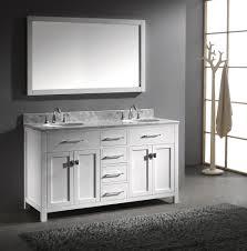 55 inch double sink bathroom vanity: virtu usa caroline x double sink bathroom vanity in white