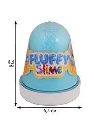 <b>Игрушка</b>, Слайм <b>Monsters Slime</b> Fluffy Голубой Бабл-гам FL005 ...