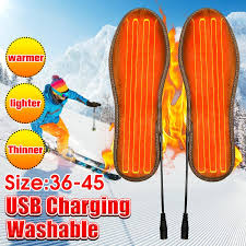 <b>1Pair Electric USB</b> Charging Heating Shoes Insoles Heater Or No ...