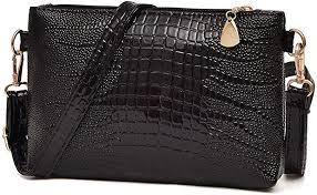 Clearance! ZOMUSA Women <b>Fashion</b> Handbag <b>Crocodile Pattern</b> ...