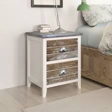 <b>Nightstand 2 pcs with</b> 2 Drawers Brown and White - Code: 242042 ...