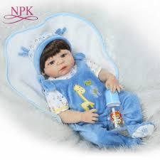 NPK <b>55CM Full Body Silicone</b> Reborn Bebe Boy Doll Realistic Bebe ...