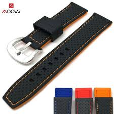 AOOW <b>2018 New</b> Generic Watchband Silicone Rubber Watch Strap ...