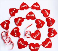16pcs/set 3m Romantic <b>Heart Shaped</b> Curtain Garland <b>Hollow Love</b> ...
