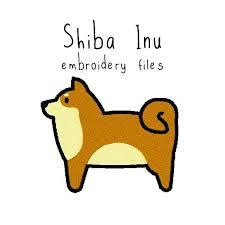 <b>Shiba inu</b> EMBROIDERY MACHINE FILES <b>pattern</b> design hus jef ...