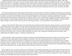 essay against animal testing