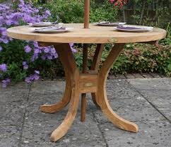 pedestal round teak garden table chic teak furniture