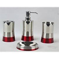 piece bathroom set colours  piece bathroom accessory set color red