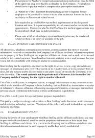 bear staffing services pdf a return to work note from the participating doctor is required for any employee to be