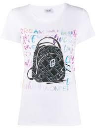 <b>Liu Jo</b> Short Sleeve Monogram Backpack T-Shirt Ss20 | Farfetch.com