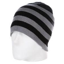 <b>Шапка</b> мужская <b>Urban Classics 2</b> Stripe Beanie Black/Grey - купить ...
