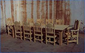 dining table that seats 10: mission southwest style dining set tables chairs china cabinets dining table seats