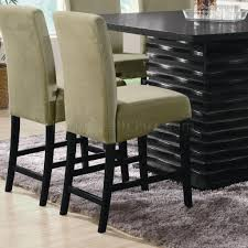 modern black counter height dining table