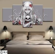 <b>Home</b> Decor <b>Modular</b> Canvas Picture <b>5 Piece</b> Mirai Nikki Gasai ...