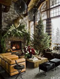 christmas lights furnish living room