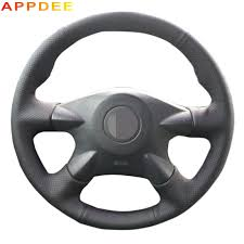 <b>Black Artificial Leather</b> Car Steering Wheel Cover for Nissan Almera ...