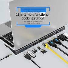 <b>RUNFENGTE</b> New 11 in <b>1</b> Type-C HUB Docking Station Adapter ...