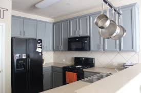 Colored Kitchen Appliances Picture Of Small Kitchen With Gray Rope Cabinets And Black Appliances