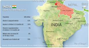 Image result for uttar pradesh map