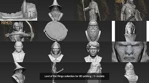 <b>Lord of the</b> Rings collection for 3D <b>printing</b> | CGTrader