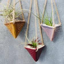Geometric <b>Hanging</b> Planter, Small - <b>16 Color</b> Choices — Back Bay ...