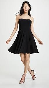 Norma Kamali Расклешенное <b>мини</b>-<b>платье без бретелек</b> ...