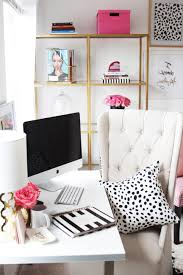home office meagan ward39s girly chic home office office tour sayeh pezeshki within chic home chic home office office
