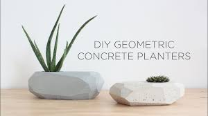 DIY Geometric <b>Concrete</b> Planters - YouTube