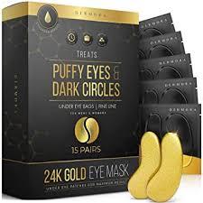 24K Gold Eye Mask– 15 Pairs - Puffy Eyes and Dark ... - Amazon.com