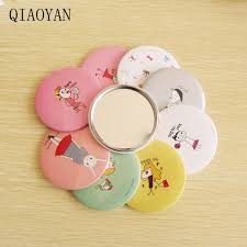 2020Convenient <b>Mini</b> Beauty Portable Mirror <b>Cute</b> Cartoon Circular ...