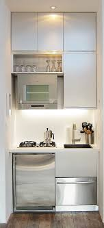 euro week full kitchen: only thing id add is a small oven and a european style washer dryer in same appliancethis has microwave refrigerator dishwasher sink cabinets