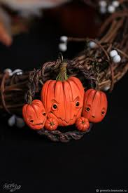 "Pendant ""<b>Three pumpkins</b>"" – заказать на Ярмарке Мастеров ..."
