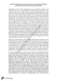 economics globalisation essay   year  hsc   economics   thinkswapeconomics globalisation essay