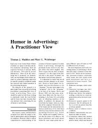 academic paper humor in advertising a practitioner perspective