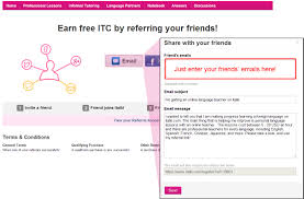 new referral program official italki blog all you need to do is click on the email button and input your friend s email in the box and we ll send a message to them