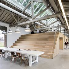 bedaux de brouwer transforms dutch railway warehouse into multi level office architectural office interiors amazing ddb office interior