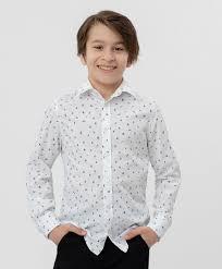 Белая <b>рубашка с принтом</b> Button Blue для мальчиков купить ...