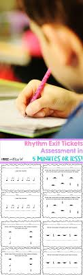 ideas about My Music on Pinterest   Make Mine Music  Bugzy     Assess rhythm in   minutes or less  These exit tickets allow me to take a