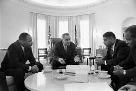 civil rights leadership and the  civil rights act  the gilder  lyndon johnson meeting with civil rights leaders