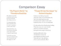 ap english literature and composition the third rate mind is only  comparison essay my papas waltz by theodore roethke those winter sundays by