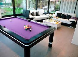 Combination Pool Table Dining Room Table Adorable Black Pool Tables That Can Be Combined With Purple Color