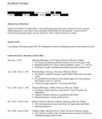 work examples infinity careers new cv