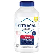 Citracal <b>Maximum Plus</b> Calcium Citrate + <b>D3</b>, 280 Caplets