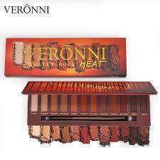 <b>VERONNI</b> Molten Rock Heat Eyeshadow Palette <b>12 Colors Matte</b> ...