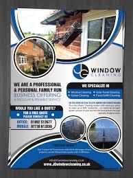 modern elegant flyer design for jg window cleaning by hih7 flyer design by hih7 for jg window cleaning flyer design design 10627585
