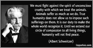 "Albert Schweitzer said ""Fight Against the Spirit of Unconscious ... via Relatably.com"
