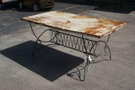 steel wood dining table perch ideas  vintage metal patio table ojtjsu ideas