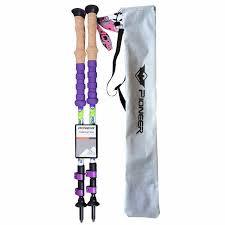 1 pair PIONEER <b>New Carbon</b> Steel Walking <b>Stick</b> Pole <b>Lightweight</b> ...