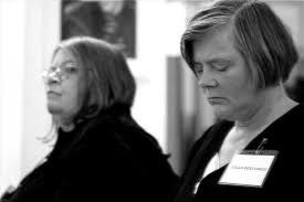 Former members Molly Kronberg (United States) and Aglaja Beyes-Corleis (Germany) - IMG_5217