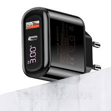 СЗУ <b>USAMS US</b>-<b>CC085</b> T23 QC3.0+PD3.0 18W Digital Display ...